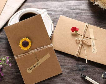 Romantic vintage style card with flower | perfect gift for girlfriend boyfriend husband and wife