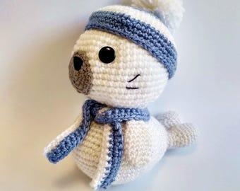 Amigurumi seal Baby seal Crochet seal in hat Little toy for babies  Handwork
