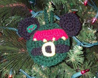 Mickey Mouse Inspired Christmas Ornament-Elf