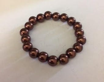 Tahitian Chocolate Beaded Bracelet