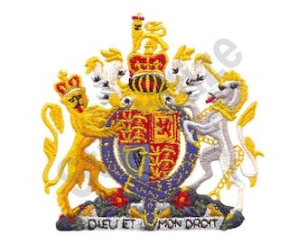 U.K. Royal Coat Of Arms - Machine Embroidery Design, United Kingdom, Royal Coat of Arms