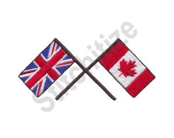 Canada And Britain - Machine Embroidery Design