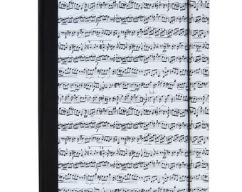 Binder A4-Music folder with notes black and white