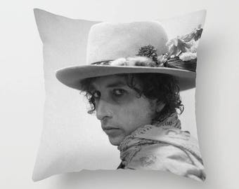 Bob Dylan Decorative Pillow, Square pillow with\ without zipper