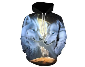 Wolf Hoodie, Wolf, Wolf Hoodies, Animal Prints, Animal Hoodie, Animal Hoodies, Wolves, Hoodie Wolf, Hoodie, 3d Hoodie, 3d Hoodies - Style 20