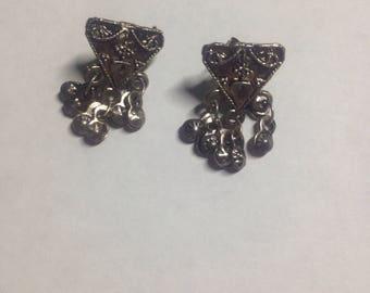 Silver dangling earrings