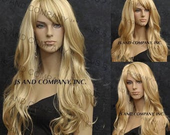Beautiful Long with Natural beachy waves and layered wig in Golden Blonde and Pale Blonde mix Cali Wig