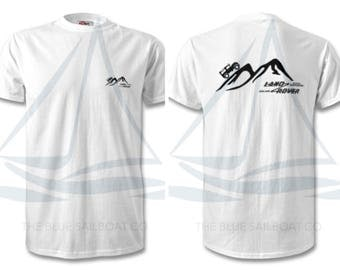 Land Rover Mountain Logo T Shirt, Classic, Novelty T-Shirt, Cars, Novelty Gift, Defender T-Shirt, Land Rover T-Shirt Adults