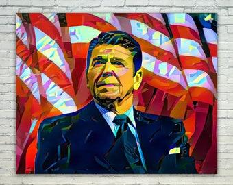 Ronald Reagan - Ronald Reagan Poster,Ronald Reagan  Art,Ronald Reagan Print,Ronald Reagan Poster,Ronald Reagan Merch,Ronald Reagan Wall Art,