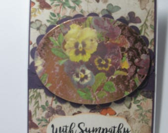 Purple Pansy Sympathy Card