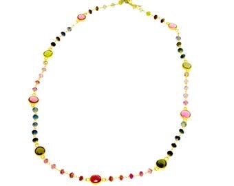 18K Multi-Stone Necklace