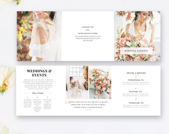 Wedding Brochure Etsy - Wedding brochure templates