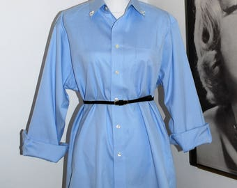 Women's Tunic or Shirt Dress w/ Belt and Hand-sewn Beading Detail