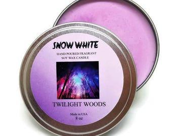 SNOW WHITE Soy candle Twilight Woods 8 oz
