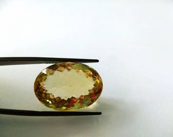 Natural Loose Gemstones Top Quality of Brazilian Natural Citrine Quartz  Oval Shape 27.30 Carat