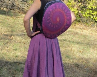 Bag or cover for shamanic drum native of 42 to 43 cm in diameter