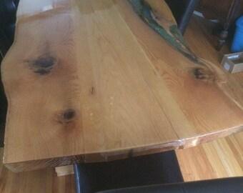 Ontario Live Edge Slab Harvest Table
