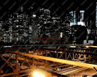 Skyline from Brooklyn Bridge NYC, Digital Art,  Art Prints or License for Art Prints