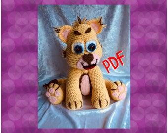Tuto/pattern pdf Lilo le lionceau crochet
