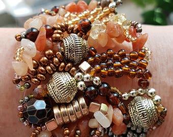 Free Form Peyote stitch beaded bracelet