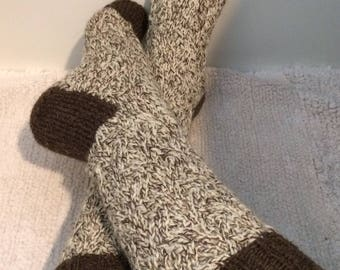 Womens Socks, Hand Knit Socks, Wool Socks, Casual Socks, House Socks, Slipper Socks,