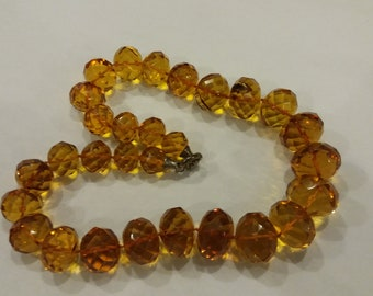 132g Baltic white BUTTERSCOTCH AMBER necklace