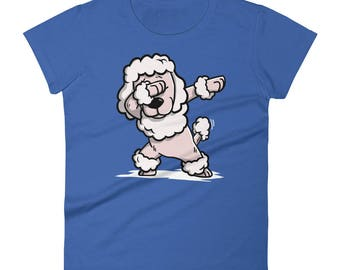 Funny Dabbing Poodle Shirt, Cute Dab Dance Dog Gift, Poodle Women's T-Shirt