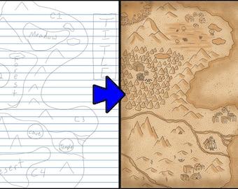 Custom map (digital copy only)