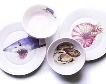 Designer Tableware. Collection Oceans: Pacific