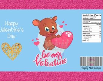 New! Valentines Potato Chip Favor Bag