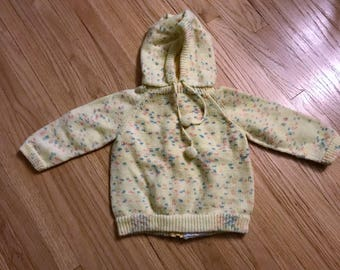 Infant Hoodie for Newborn Handmade Vintage- Free Shipping in US