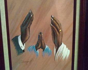 FAMILY PRAYING HANDS By Elaine Dungill