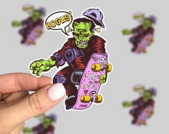 Shreddinstein Sticker, Skateboard sticker, Horror Sticker, Monster Sticker, Retro Sticker, Friday the 13th, 90s sticker