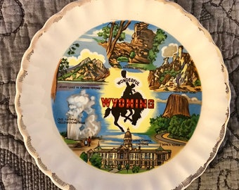 Wyoming State Collector's Souvenir Plate