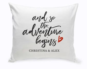 Personalized Adventure Throw Pillow - Personalized Pillow - Custom Throw Pillow - Throw Pillow Gifts - Custom Room Decor - Throw Pillow