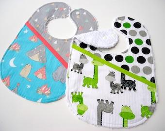 Baby bibs-Baby giraffe bib-Baby camping bib-Bibs for girls-Girl bibs-Baby chenille bibs-Feeding bibs -Baby girl bibs-Baby gift