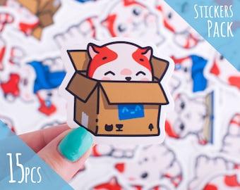 funny cat stickers sticker iphone kitten stickers decal sticker kawaii cat sticker stickers gift stickers mac sticker pack stickers funny