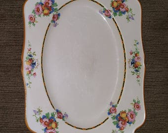 1920s antique Crown Ducal Ware from England 10.5x7.5in. platter