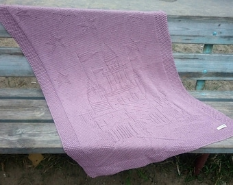 "Baby blanket ""Charmed Castle"""