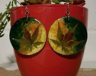 Japanese Maple Leaf Earrings