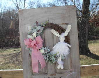 Easter Wreath, Spring Wreath, Easter Rabbit Wreath, Grapevine Rabbit Wreath, Front Door Wreath, Porch Wreath