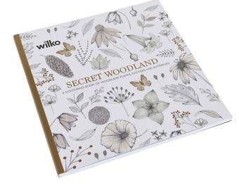 Wilko's Secret Woodland Adult Colouring Book