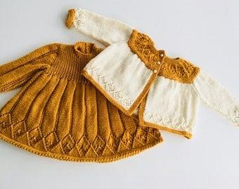 Elizabeth dress & cardi set