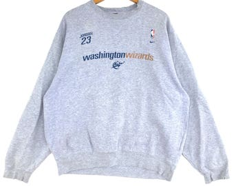 Nike Sweatshirt Big Logo Embroidery Sweat Medium Size Jumper Pullover Jacket Sweater Shirt Vintage 90's