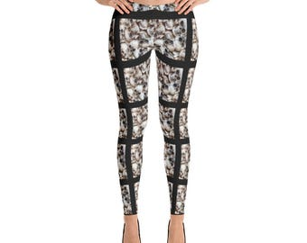 Skull Leggings - Human Skull Leggings - Skull Print Leggings - Womens Leggings - Halloween Leggings - Costume Leggings - Workout Leggings