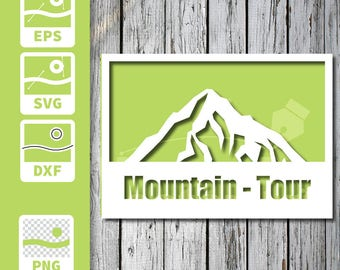 Cuttable and printable Card - Mountain
