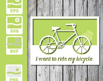 Cuttable and printable Card - Bike