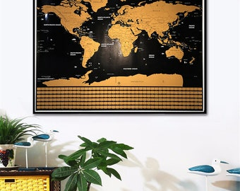 Black map etsy black world map scratch off map scratch off world maps travel map gumiabroncs Choice Image