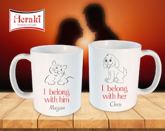 Couple mugs, valentine mug, Couple Mugs for Valentines