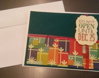 Christmas Card | Do Not Open Until Dec. 25